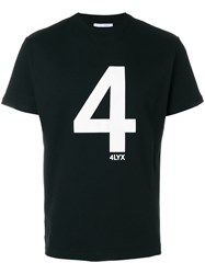Alyx T Shirt With Printed Number Cotton Polyester L Black