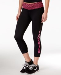 Ideology Fighter Pink Ribbon Cropped Leggings Only At Macy's Noir