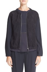Fabiana Filippi Women's Suede And Twill Jacket