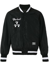 Ktz 'Society' Embroidered Bomber Jacket Black