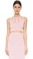 Cushnie Et Ochs Cropped Sleeveless Top Light Pink