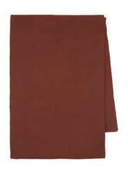 Topman Treacle Brown Knitted Scarf
