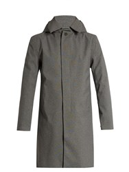 Norwegian Rain Geneve Single Breasted Technical Coat Grey Multi