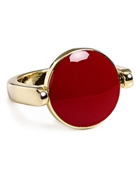 Aqua Lori Circle Ring Red