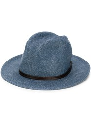 Mc2 Saint Barth Woven Effect Hat Blue