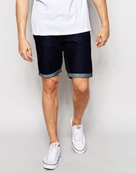 New Look Denim Shorts In Rinse Wash Navy