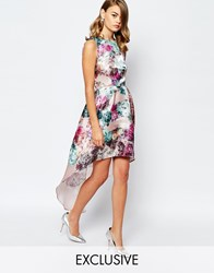 True Violet High Low Prom Dress With Sheen Multi