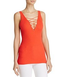 Minnie Rose Lace Up Tank Top Poppy
