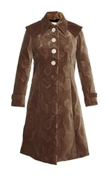 Marco De Vincenzo Velvet Frock Coat Brown