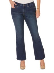 Rafaella Plus Boot Cut Washed Jeans Dark Azure