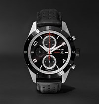Montblanc Timewalker Automatic Chronograph 43Mm Stainless Steel Ceramic And Leather Watch Black