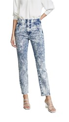 Jonathan Simkhai Button Front Jeans Mineral Wash