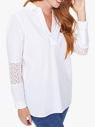 Nydj Popover Tunic Shirt Optic White
