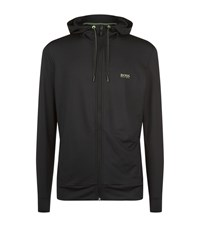 Hugo Boss Green Saggy Tech Neon Trim Hoody Male Black
