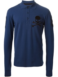 Philipp Plein 'Seven Eight' Polo Shirt Blue