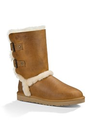 Ugg Skylah Sheepskin And Leather Ankle Boots Brown