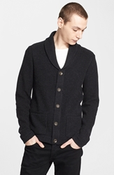 Rag And Bone 'Avery' Shawl Collar Cardigan Charcoal