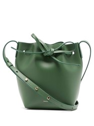 Mansur Gavriel Mini Mini Leather Bucket Bag Green