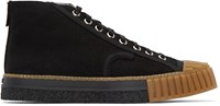 Adieu Black Canvas Type W.O. High Top Sneakers