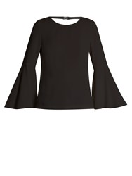 Elizabeth And James Aurora Fluted Sleeve Dress Black
