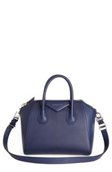 Givenchy 'Medium Pandora' Sugar Leather Satchel Blue Navy