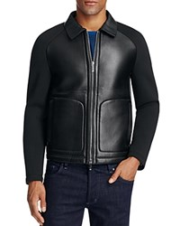 Boss T Corvis Bonded Leather Jacket Black