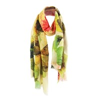 Unpaired Wish Clover Silk Crepe Long Scarf