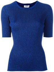 Opening Ceremony Ribbed Knit Top Blue