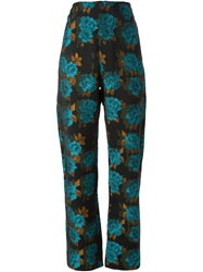 Marques Almeida Floral Brocade Trousers Black