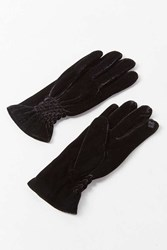 Urban Outfitters Velvet Ruched Glove Black