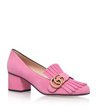 Gucci Marmont Fringed Loafer Heel Female Fuchsia