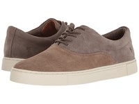 Frye Gabe Bal Oxford Taupe Multi Suede Men's Slip On Shoes Brown