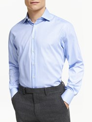 Smyth And Gibson Textured Tailored Fit Shirt Blue