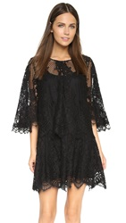 Alexis Grazi Lace Dress With Removable Top Black Lace