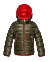 Moncler Mir Hooded Lightweight Down Puffer Jacket Olive Green