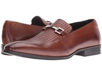 Stacy Adams Forsythe Moc Toe Bit Slip On Cognac Men's Slip On Shoes Tan