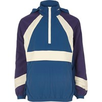 River Island Blue Panel Sports Jacket