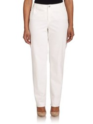 Lafayette 148 New York Plus Size Curvy Slim Leg Jeans White