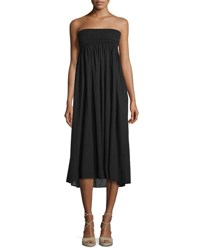 A.L.C. Randy Embroidered Strapless Sundress Black