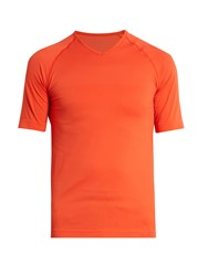 Falke V Neck Running T Shirt Orange
