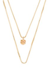 Natalie B November Birthstone Necklace Metallic Gold
