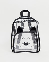 Yoki Fashion Cat Face Clear Backpack