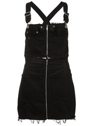 Re Done Denim Pinafore Dress Black