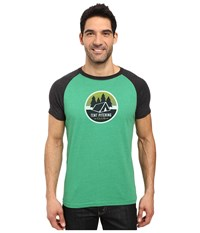 Prana Tent Pitch Club T Shirt Peacock Eye Men's T Shirt Green