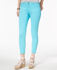 Michael Kors Petite Izzy Skinny Ankle Jeans Turquoise