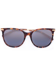 Boucheron Oversize Sunglasses Women Acetate Metal 53 Brown