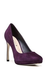 Via Spiga Women's 'Siena' Platform Pump Purple Suede