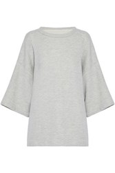 Current Elliott Melange Cotton Blend Top Gray