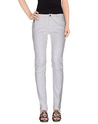 Trussardi Jeans Denim Denim Trousers Women White