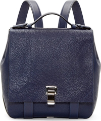 Proenza Schouler New Navy Leather Small Courier Backpack